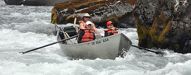 Enjoy a dry fly fishing trip in a Mckenzie River drift boat.